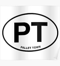 Pallet Town City Initials Poster