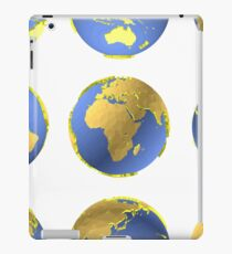 Earth globes vector pattern iPad Case/Skin