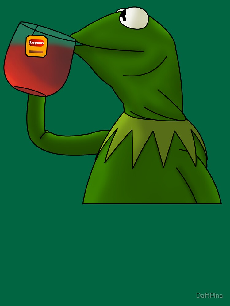Kermit sipping tea (Redesign) | Unisex T-Shirt