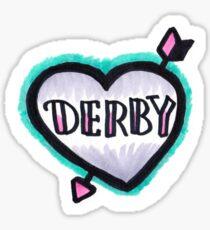 Derby Heart Sticker