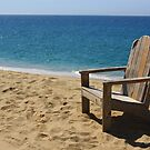 Empty weathered beach chair. by MaryVailMBA