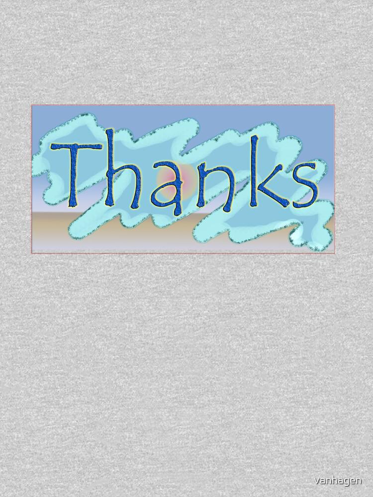 thanks by vanhagen