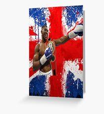 Anthony Joshua British Boxing World Champion  Greeting Card