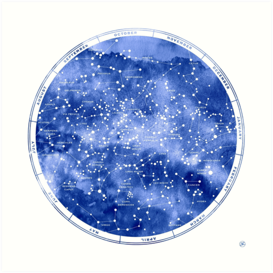 Star Map Art.Northern Star Map Art Prints By Sirenarts Redbubble