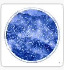Northern Star Map Sticker