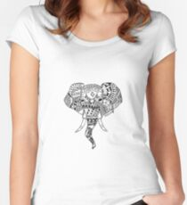 The Elephant in the Room  Women's Fitted Scoop T-Shirt