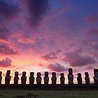 Ahu Tongariki, Rapa Nui, Chile by Graham Gilmore