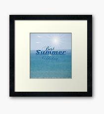 summer blurred seascape Framed Print