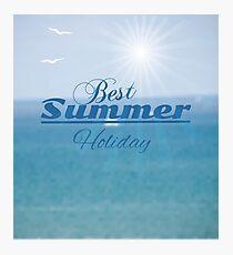 summer blurred seascape Photographic Print