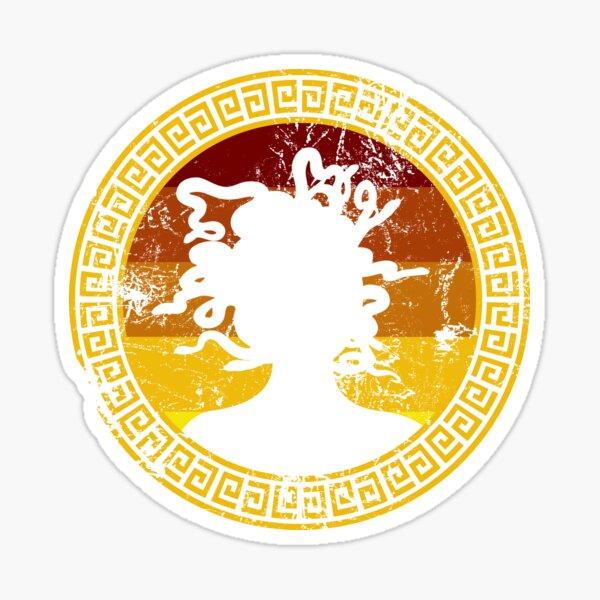 Medusa Greek Mythology Gorgon Greek Myth Sticker