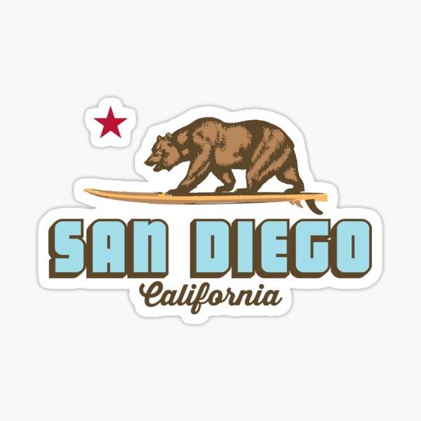 San Diego - California. Sticker