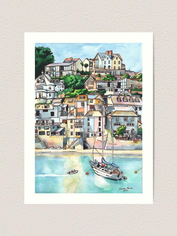 Alternate view of Salcombe, Kingsbridge Estuary, Devon Art Print