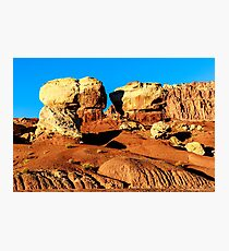 Twin Rocks at Capitol Reef Photographic Print