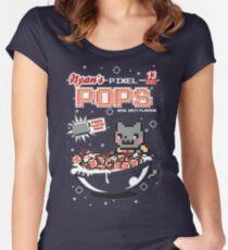 Nyans Pixel Pops Women's Fitted Scoop T-Shirt