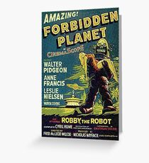 Vintage Sci-fi Movie Forbidden Planet, Robot Greeting Card