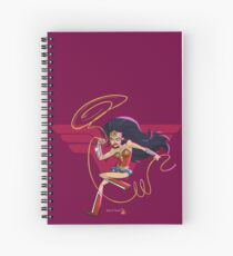 Action Lady Spiral Notebook