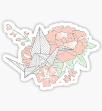 Origami Floral Sticker