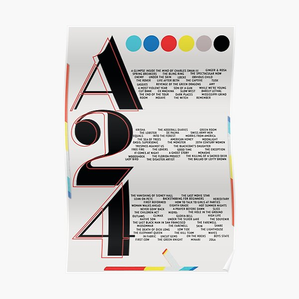 A24 Film Poster Poster