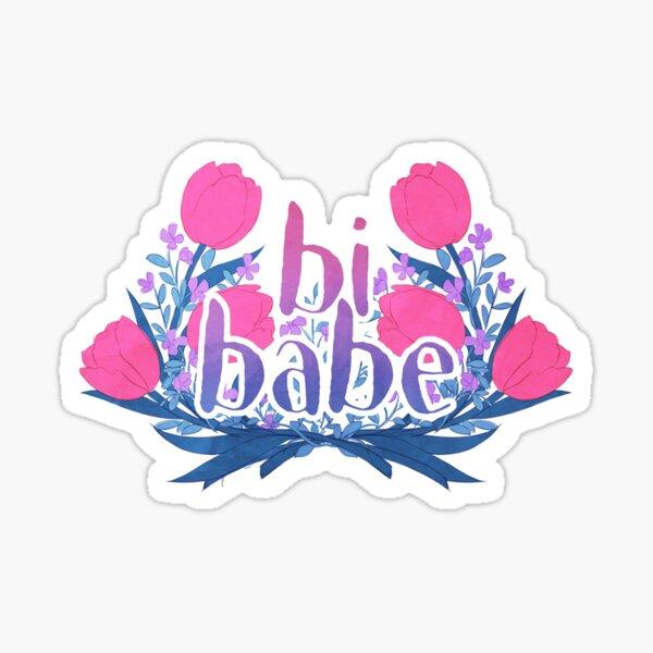 bi babe floral ♠ Sticker