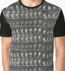 Eadweard Muybridge - Photographic Motion Study Graphic T-Shirt
