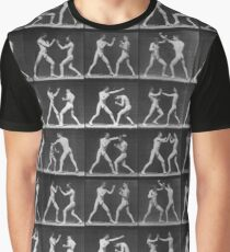 Eadweard Muybridge - Fight Boxer Motion Study Graphic T-Shirt