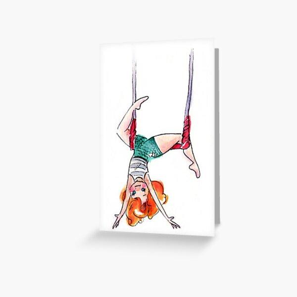 Trapeze Girl Kay! Greeting Card