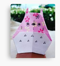 Paper Totoro Canvas Print