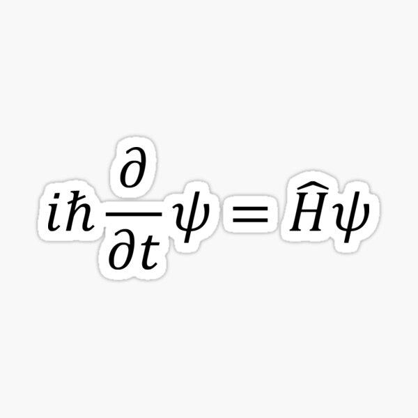 Schrodinger Equation Sticker