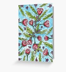 Floral Chaos Greeting Card