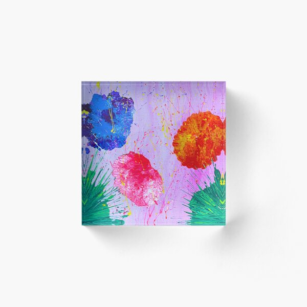 Dreaming of color Acrylic Block