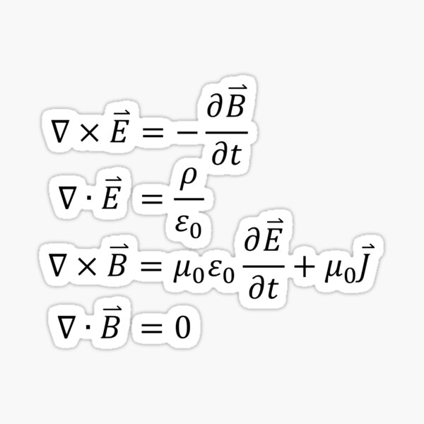 Maxwell's Equations Sticker