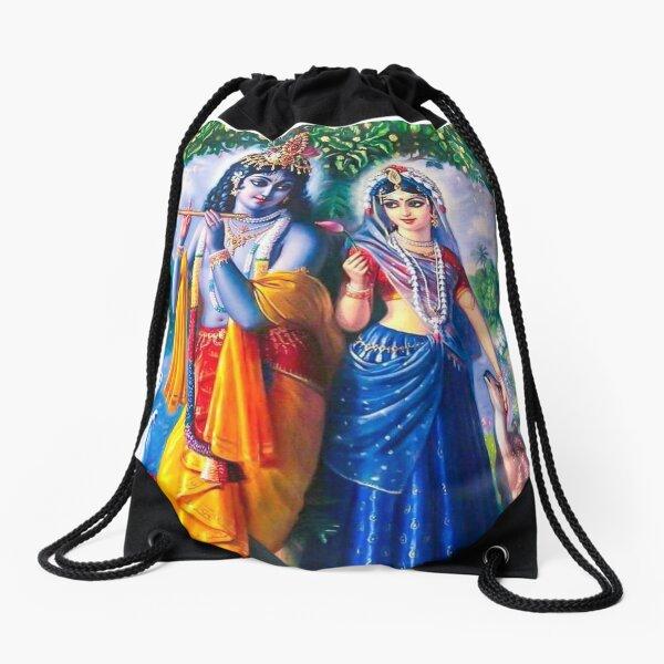 Krishna and Radha  Drawstring Bag
