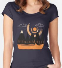 Sunny Mountain Pass Women's Fitted Scoop T-Shirt