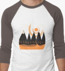 Sunny Mountain Pass Men's Baseball ¾ T-Shirt