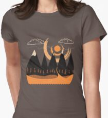 Sunny Mountain Pass Women's Fitted T-Shirt