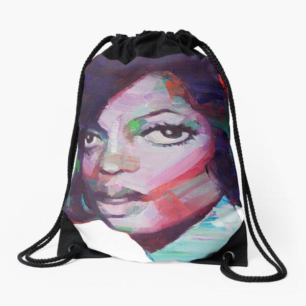 Diana Ross Digital Art Drawstring Bag