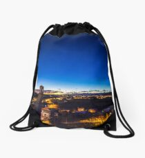 sunset at the village Drawstring Bag