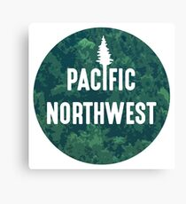 Pacific Northwest | Forest Circle Canvas Print