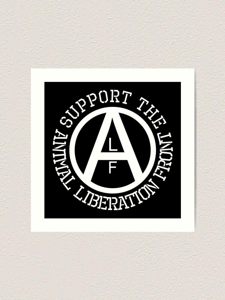 Alternate view of Animal Liberation Front Logo Art Print