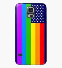 Gay USA Rainbow Flag - American LGBT Stars and Stripes Hülle & Skin für Samsung Galaxy