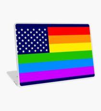 Gay USA Rainbow Flag - American LGBT Stars and Stripes Laptop Skin