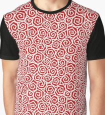 White on Red Graphic T-Shirt