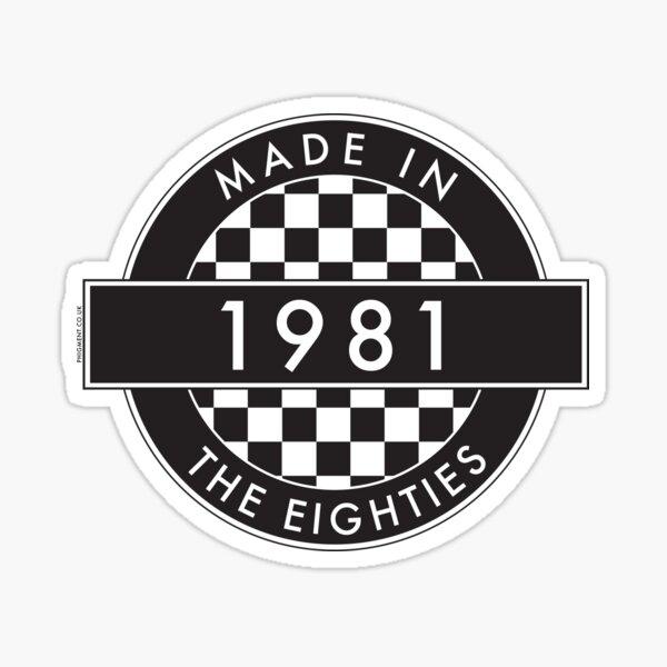 1981: MADE IN THE EIGHTIES [Round Type 2] Sticker