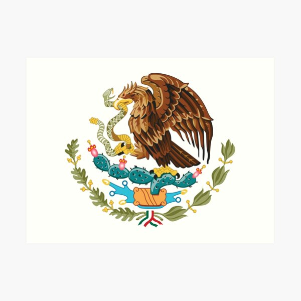 Mexico Coat of Arms Art Print