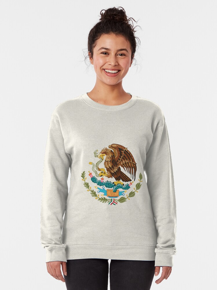 Alternate view of Mexico Coat of Arms Pullover Sweatshirt