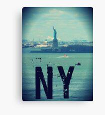new york city, statue of liberty Canvas Print