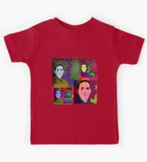HP LOVECRAFT, AMERICAN GOTHIC WRITER, COLLAGE Kids Tee