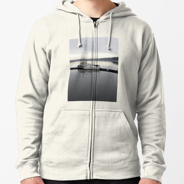Quayside Relections Derry Ireland Zipped Hoodie