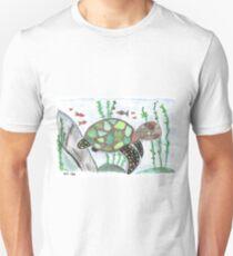 Turtle animal watercolor art T-Shirt