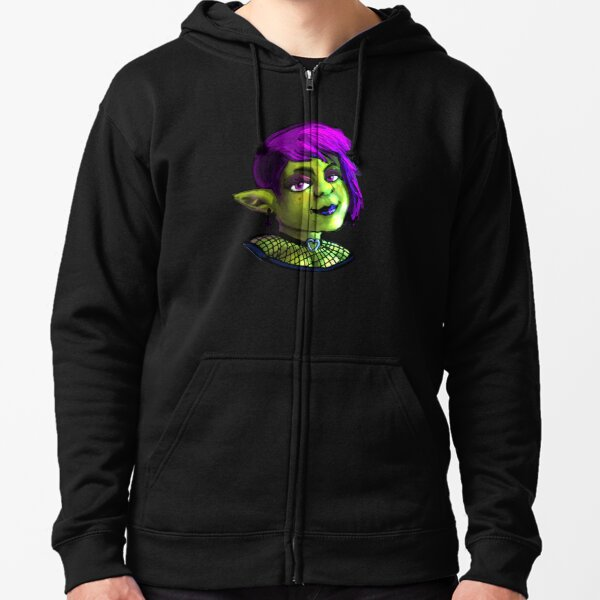Goth Girl Goblin Zipped Hoodie